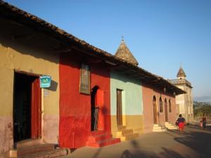 Barevné domky - Granada, Nikaragua