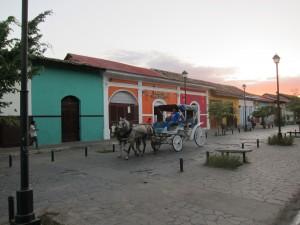 Povoz s koňmi - Granada, Nikaragua