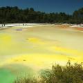 Wai-O-Tapu, geotermální přírodní park, Rotorua, Nový Zéland