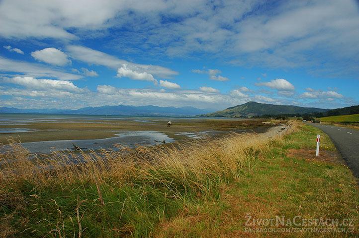 Cestou na Farewell Spit, Jižní Ostrov, Nový Zéland