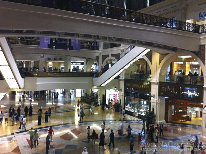 Mall of the Emirates - pohled do vnitřních prostor centra