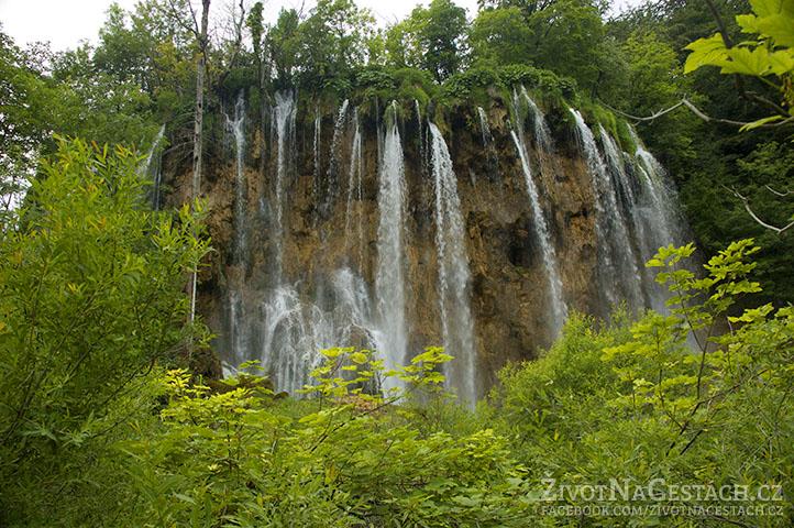 Vodopády v národním parku Plitvičky