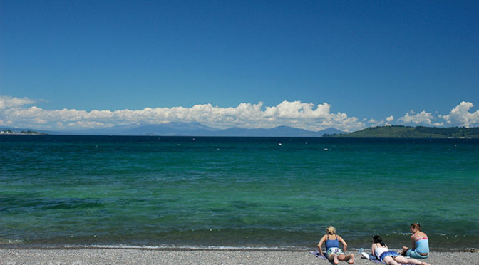Lake Taupo, Severní ostrov, Nový Zéland