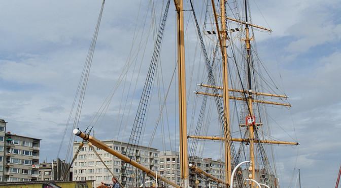 Školní plachetnice Mercator, klenot lázeňského Oostende