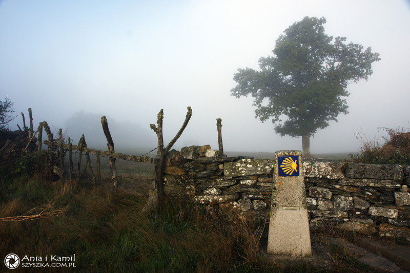 Trasa Camino de Santiago je značená svatojakubskou mušlí