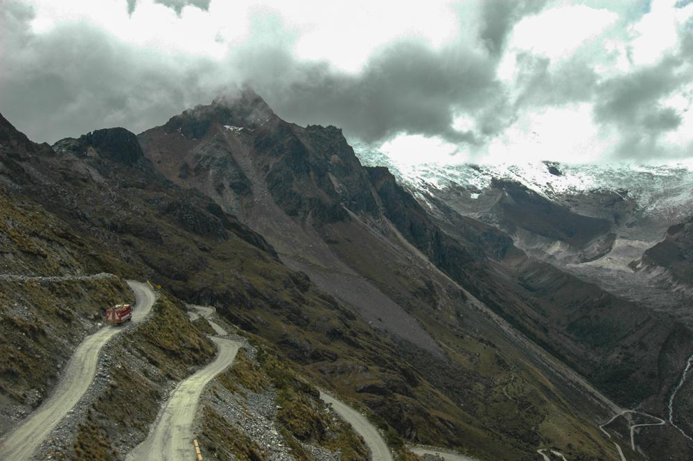 Silnice v NP Huascarán, Peru