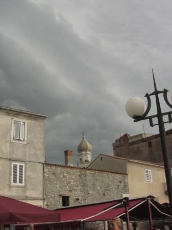 Pohled na město na Krku