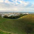 Pohled z Mount Eden na Auckland, Nový Zéland