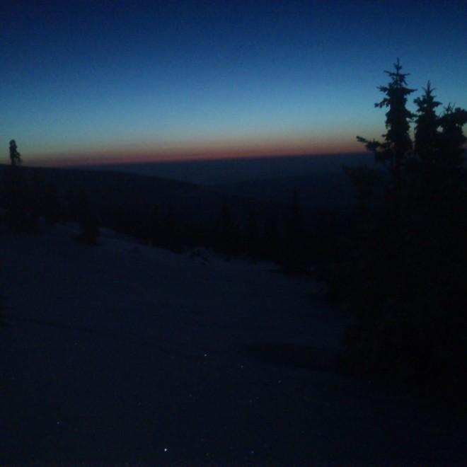 Hřeben Růžové hory za svítání