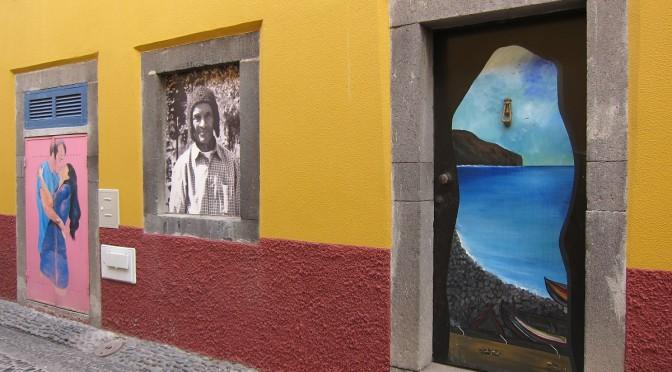 Nečekaná pouliční galerie, město Funchal, Madeira