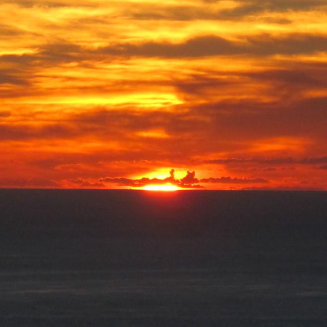 Západ slunce na La Palmě.