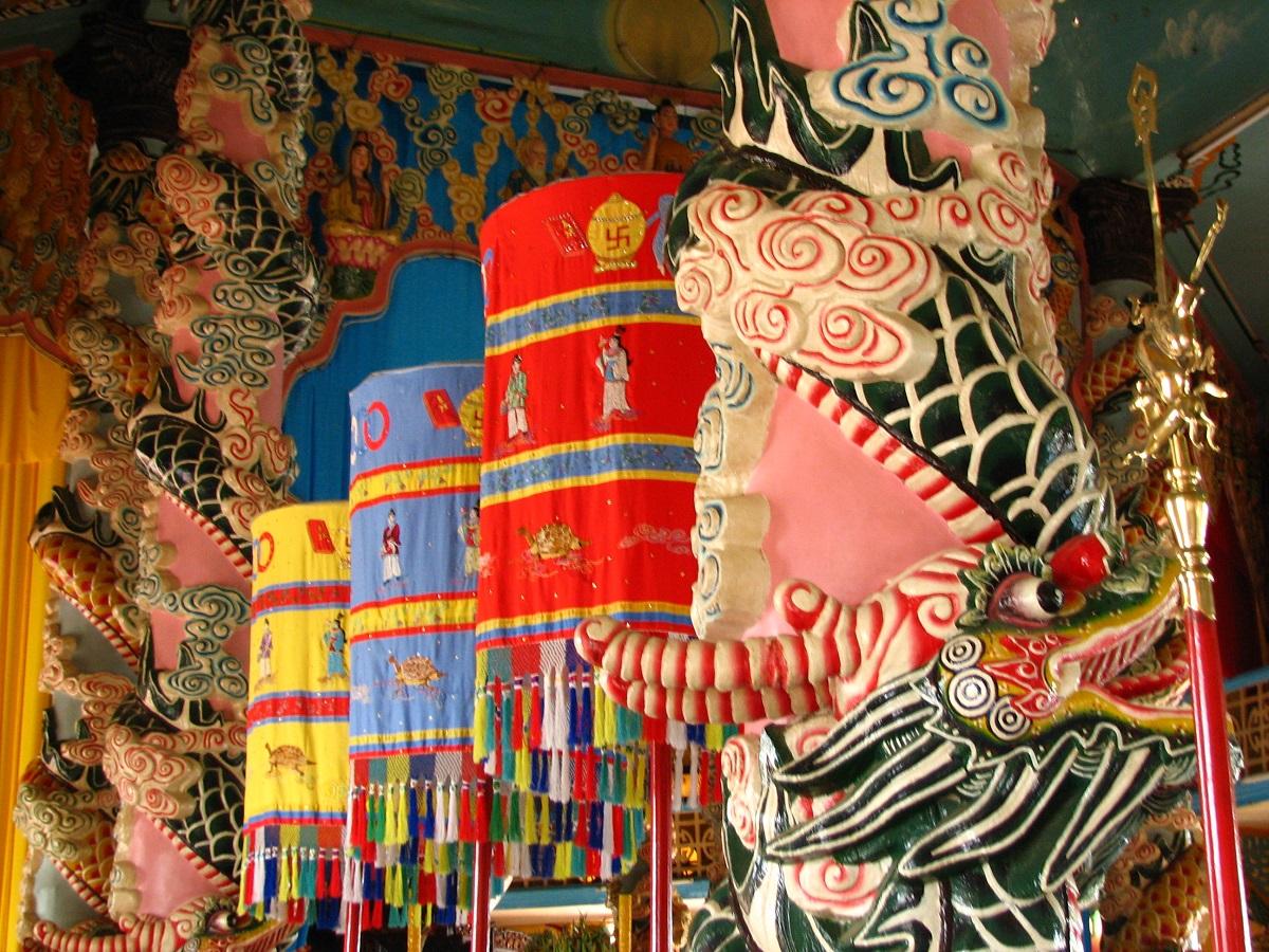 Interiér chrámu
