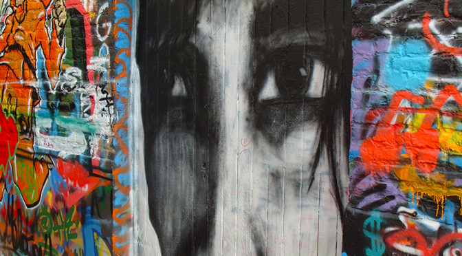 Graffiti street, Gent, Belgie
