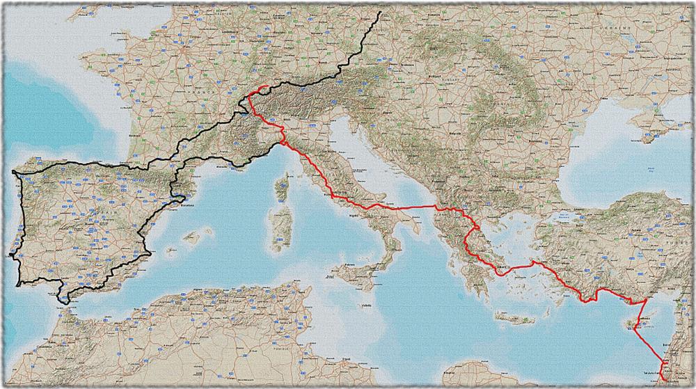 Petr Hirsch - mapa cesty