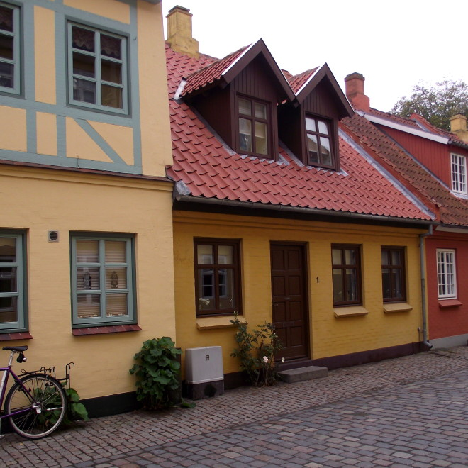 Nejstarší část Odense (čtvrť Hanse Christiana Andersena)