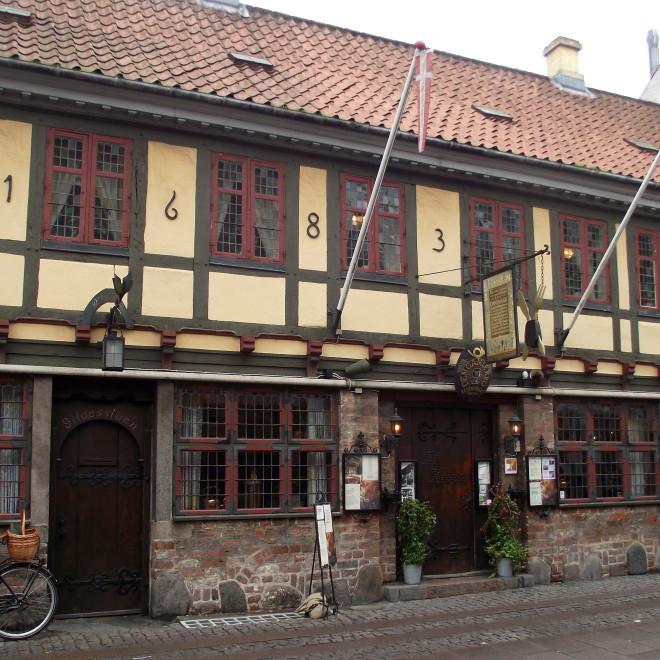 Nejstarší část Odense (ulice Overgade)