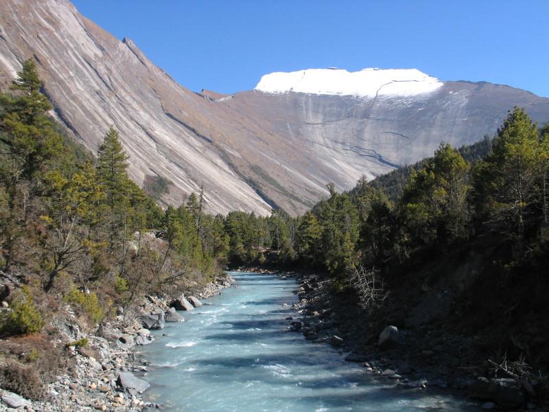 Řeka Marshyangdi.