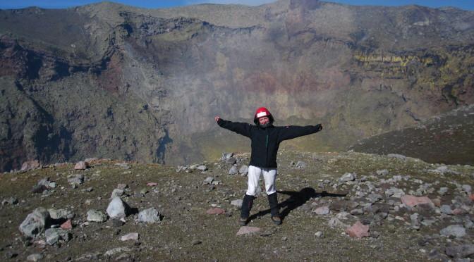 Výstup na sopku Villarica, Chile