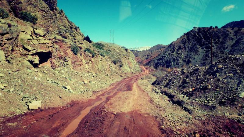 Cesta národním parkem Toubkal.