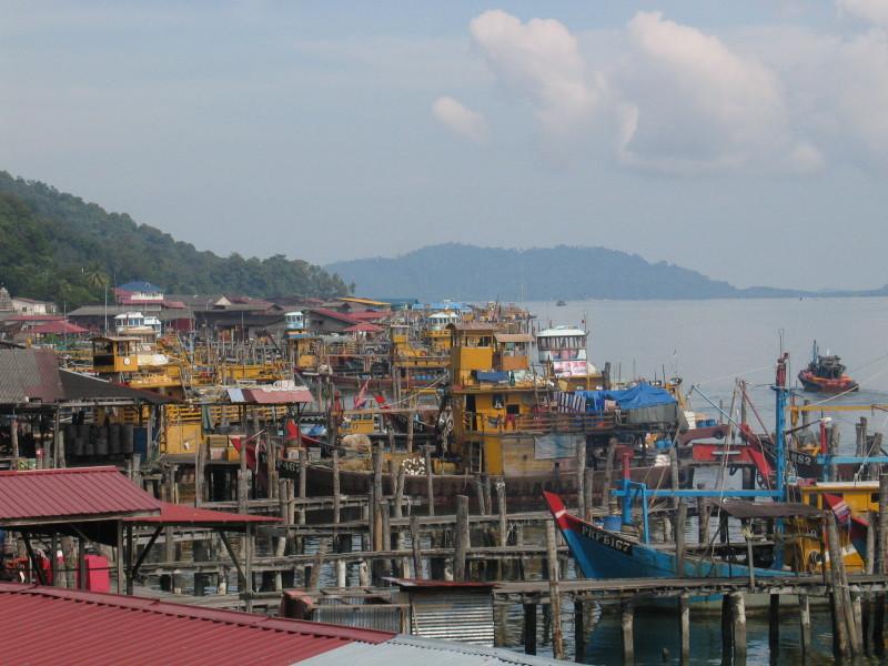 Rybářský přístav Pangkor.