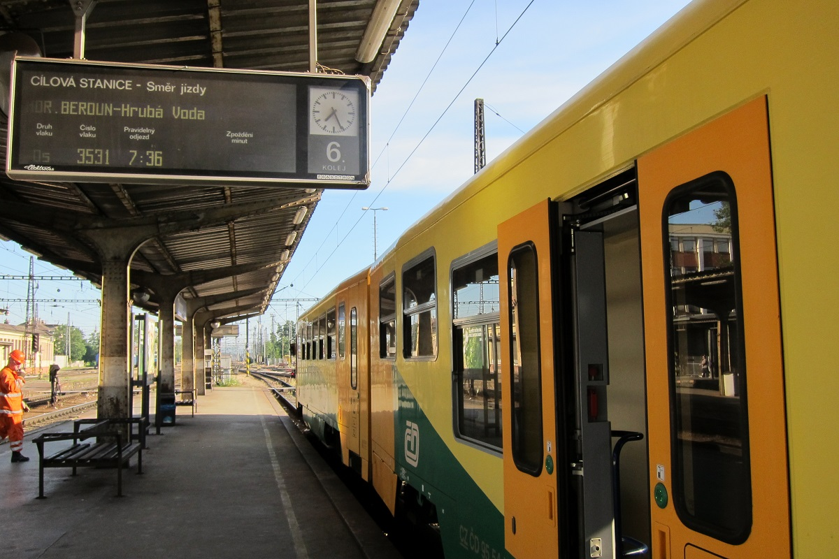 Vlak směr Domašov nad Bystřicí