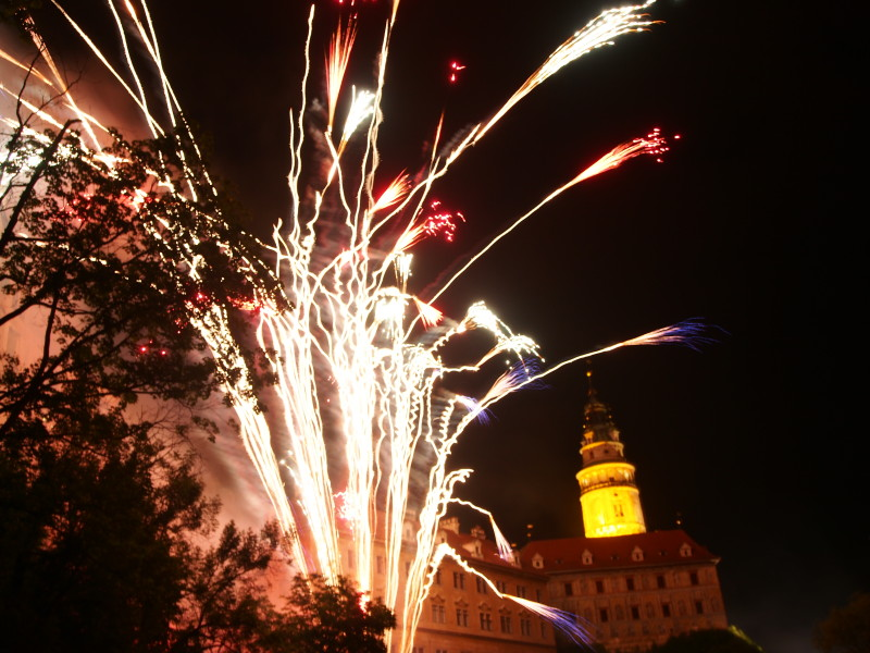 Ohňostroj - Český Krumlov