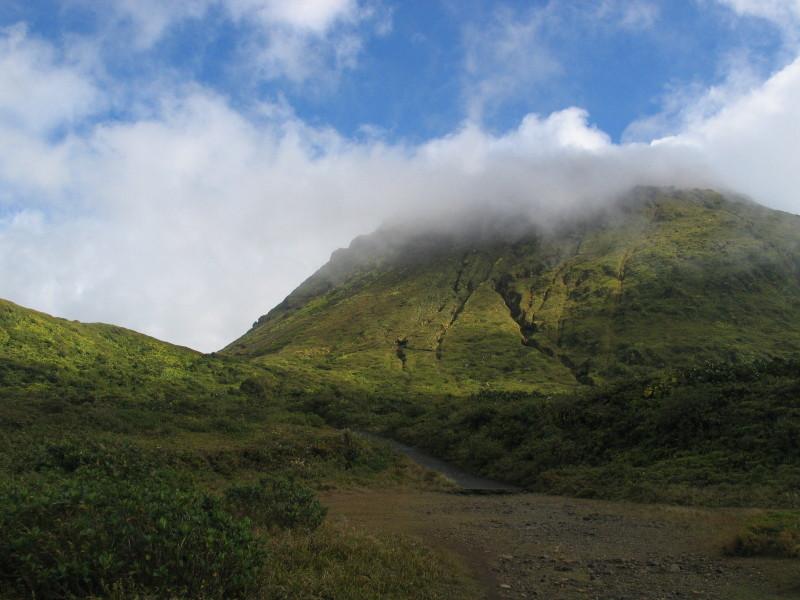 Sopka Le Soufriére.
