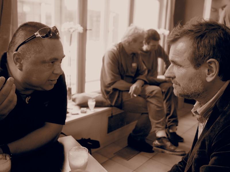 Rozhovor s Ottou Plachtem pro čtenáře webu ŽivotNaCestách.cz ( vpravo Otto Placht, vlevo autor článku).