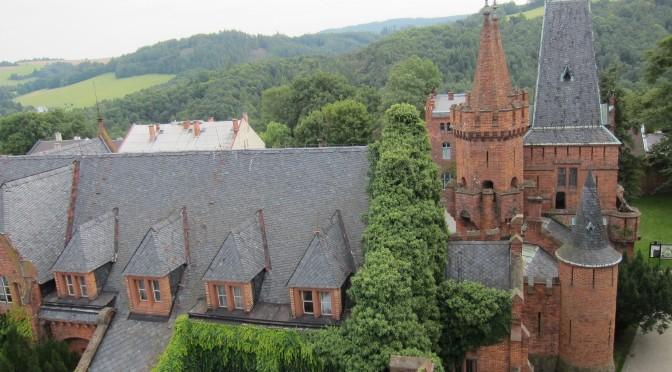 Zámek Hradec nad Moravicí – věže Červeného zámku, Moravskoslezský kraj, Česká republika
