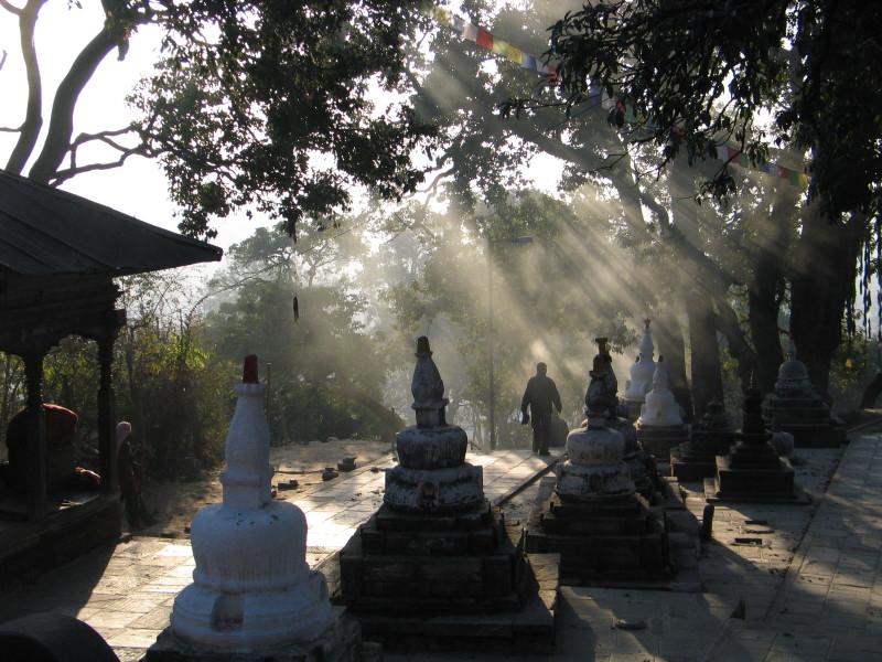 V chrámovém komplexu Pashupatinath.
