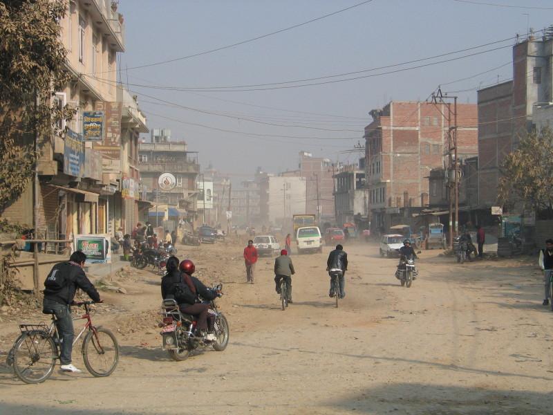 Bezejmenná ulice v Káthmándú