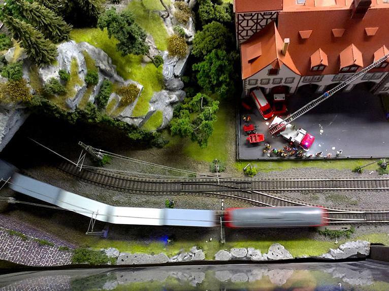 Království železnic - zásah požárníků