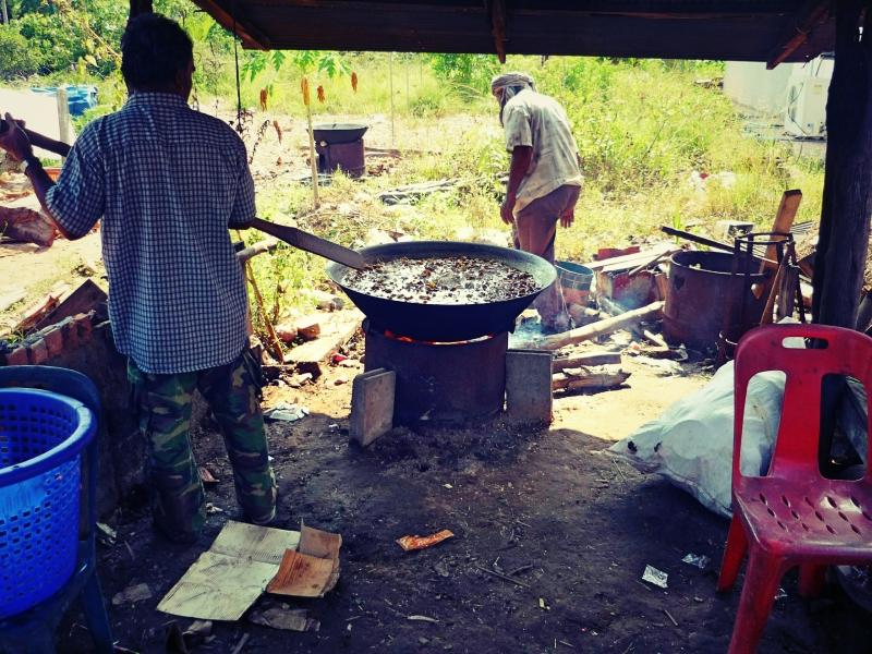 Příprava jídla.
