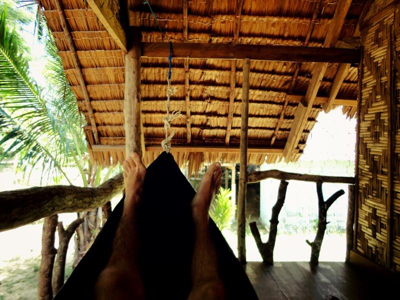 Houpačka v chatě v Thajsku na ostrově Ko Jum.