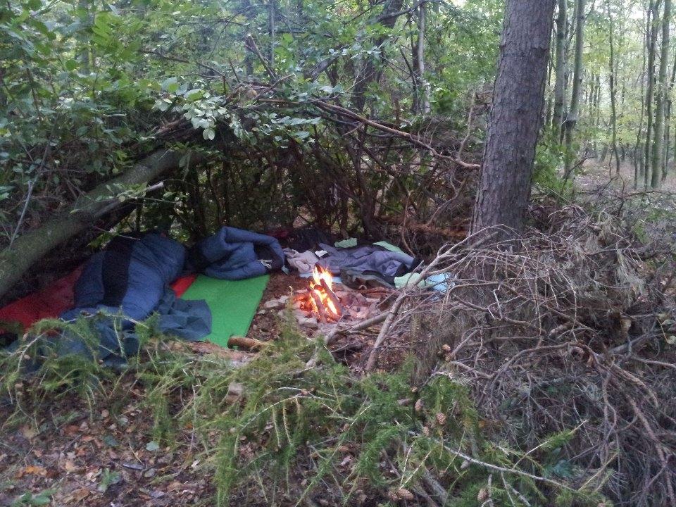 Táboření, noc v přírodě, bushcraft