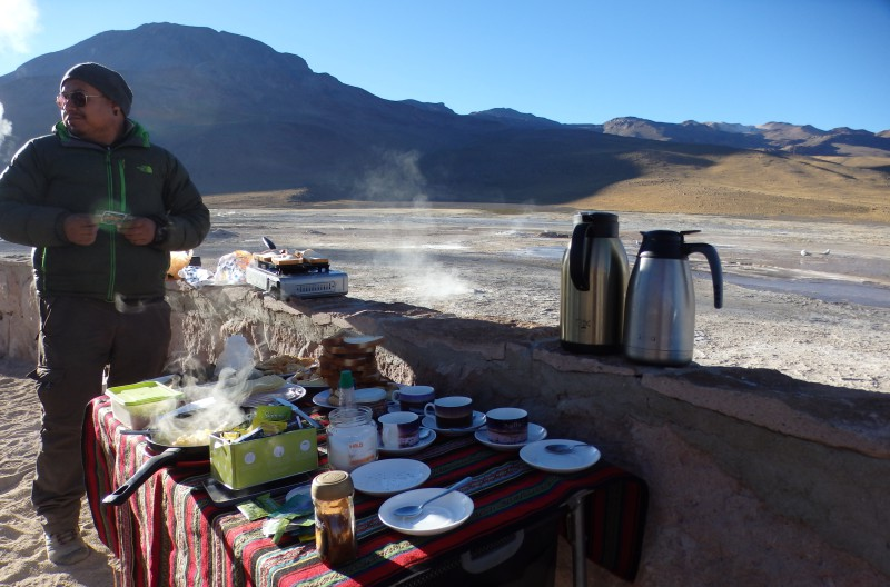 Snídaně ve 4500 m n. m