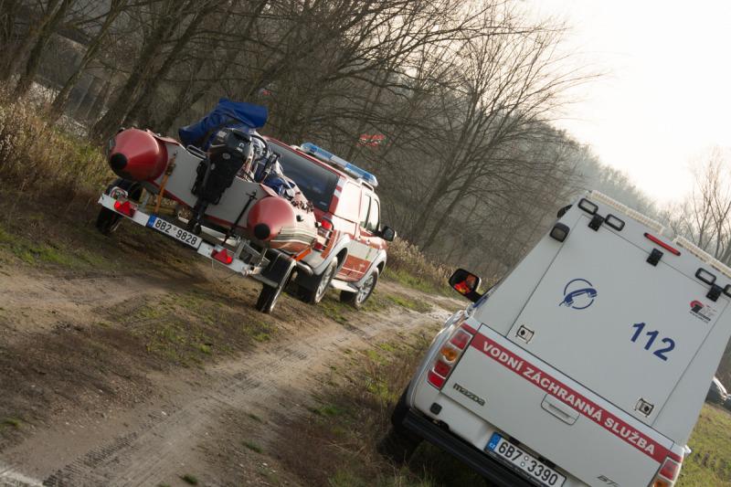 Na pomoc přijeli také dobrovolní hasiči ze Staré Břeclavi.