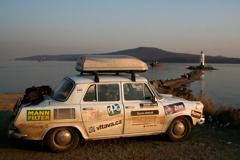 Michal s Martinem na cestách, tady právě ve Vladivostoku