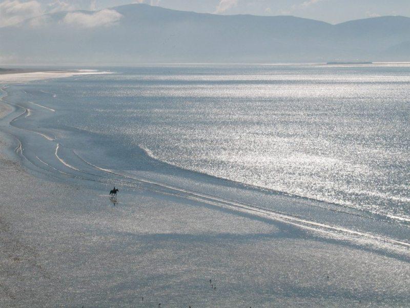 Několik kilometrů dlouhá pláž Inch Beach.