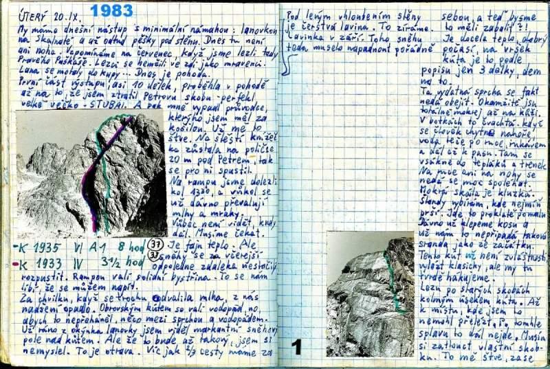Jeden z důkazů, že si Jan Vlasák píše deníky z cest