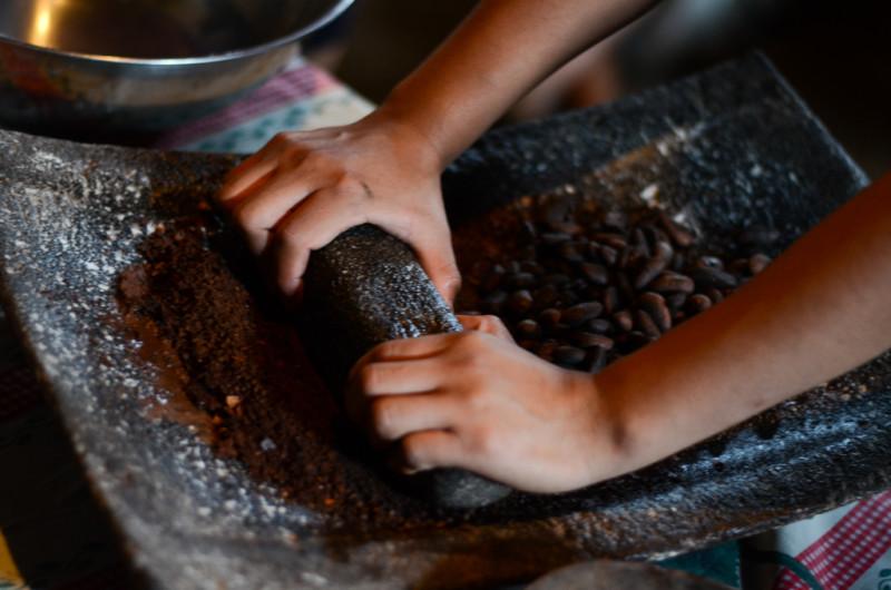 Výroba čokolády v Guatemale