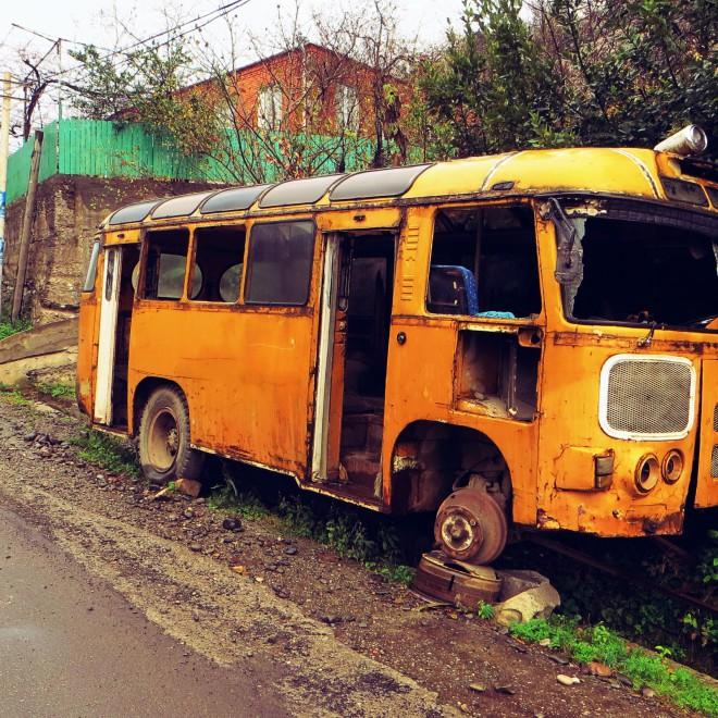 Starý autobus.