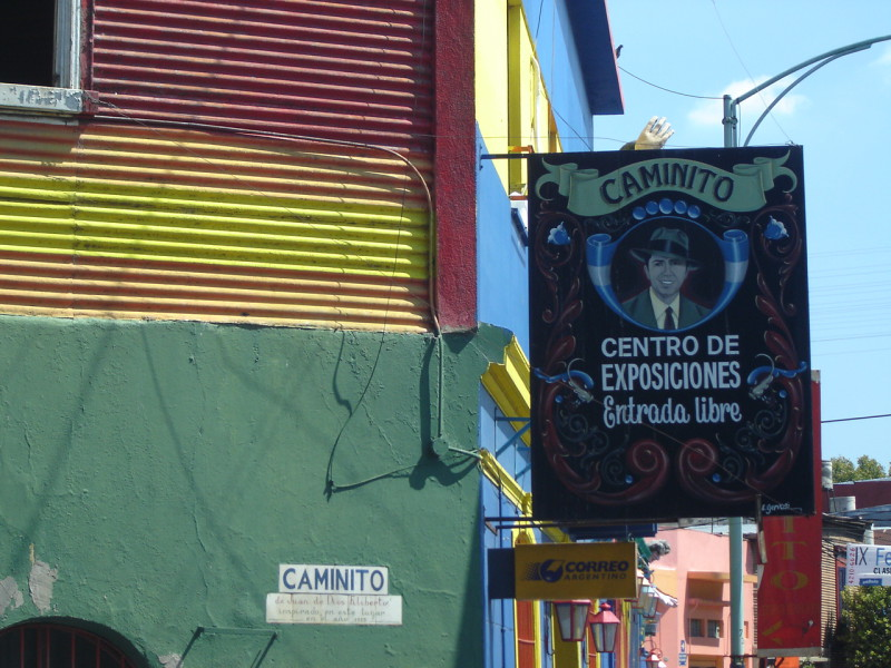 Ulice Caminito ve čtvrti La Boca
