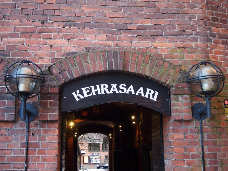 Kehräsaari, místo, kde to žije kulturou. Najdete zde například kino Niagara.