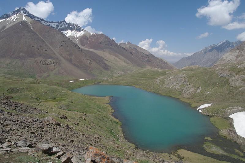 údolí Kindik, Alajský hřeben, Kyrgyzstán