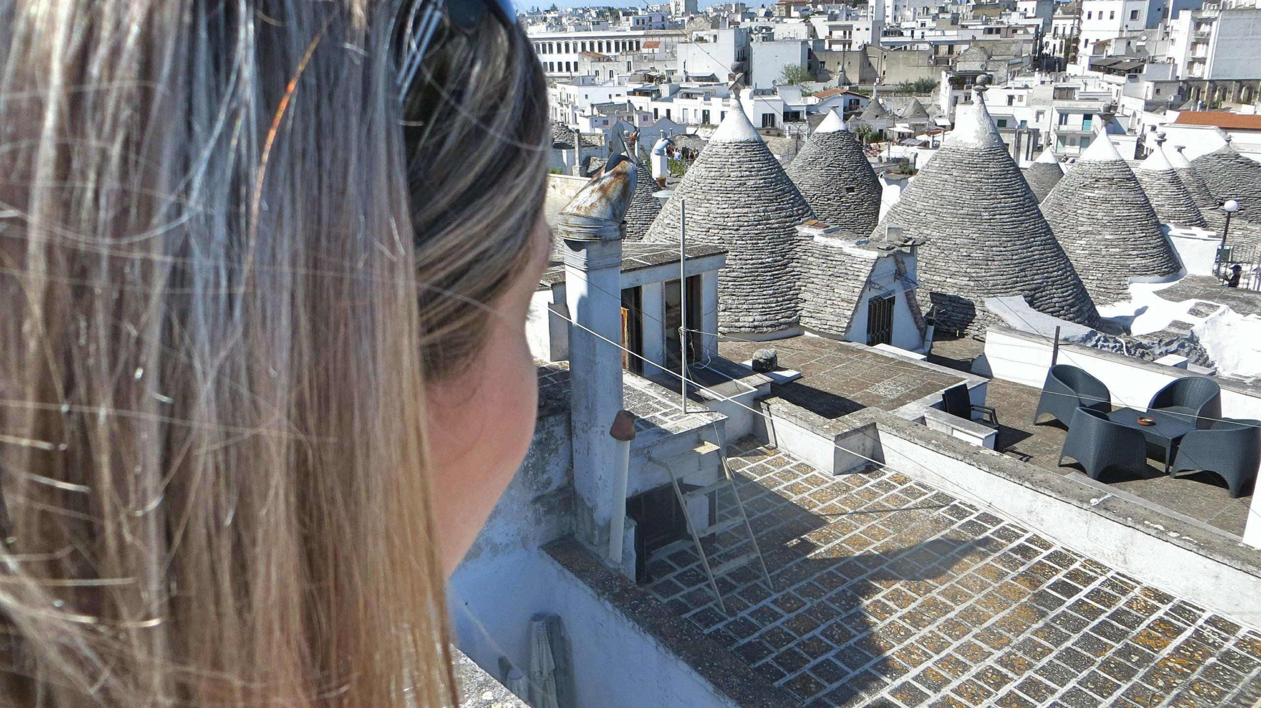 Výhled ze střechy.