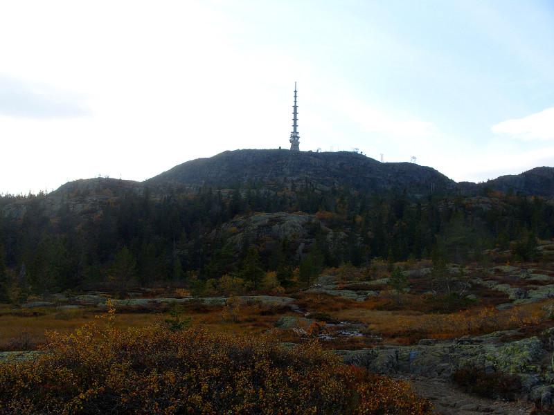 Vrchol Jonsknuten nabízí výhled na kraje Buskerud i Telemark