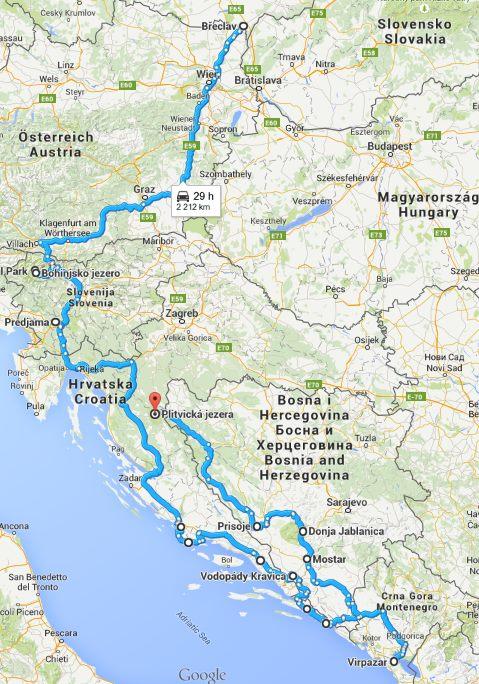 Balkán 2015 - Cesta tam