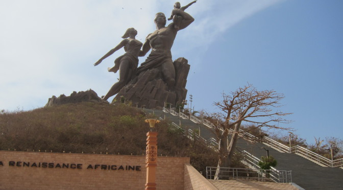 Monument znovuzrození Afriky v senegalském Dakaru