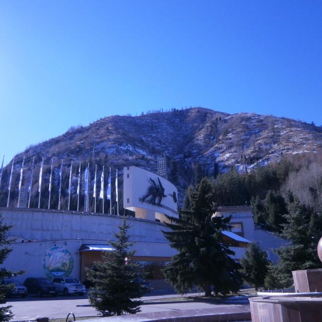 Nejvýše položený rychlobruslařský stadion na světě - Medeu